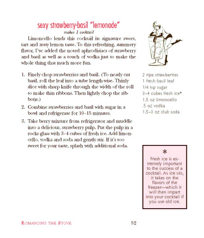 cocktail recipe: strawberry-basil lemonade